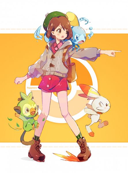 Tags: Anime, Duizhang, Pokémon Sword & Shield, Pokémon, Female Protagonist (Pokémon Sword & Shield), Sobble, Grookey, Scorbunny