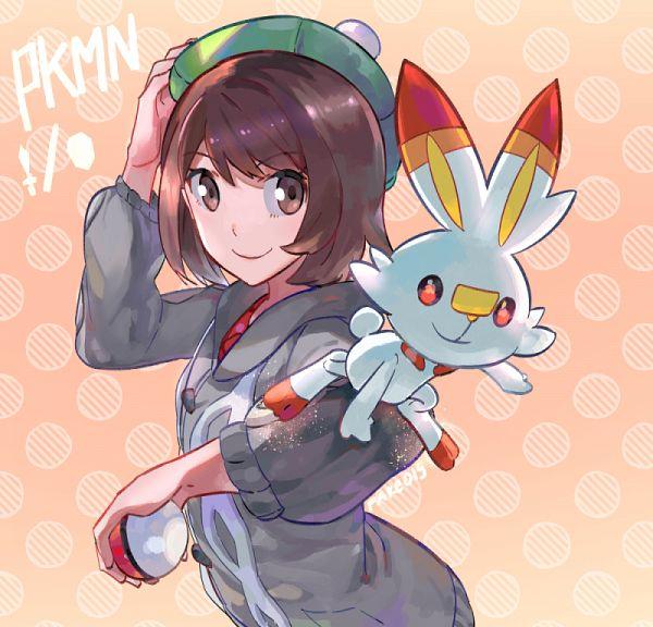 Tags: Anime, Fare, Pokémon Sword & Shield, Pokémon, Female Protagonist (Pokémon Sword & Shield), Scorbunny, Pixiv, Fanart, Fanart From Pixiv