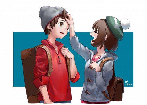 Tags: Anime, Pixiv Id 6994501, Pokémon Sword & Shield, Pokémon, Male Protagonist (Pokémon Sword & Shield), Female Protagonist (Pokémon Sword & Shield), Gray Hat, Gray Headwear, Fanart, Fanart From Pixiv, Pixiv
