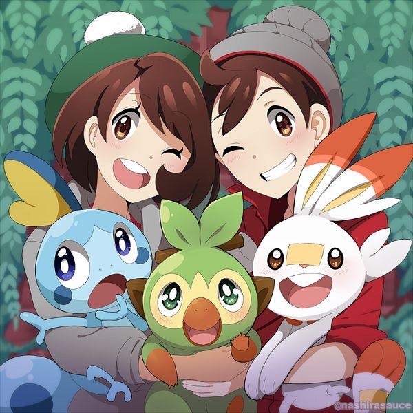 Tags: Anime, Pixiv Id 1500100, Pokémon Sword & Shield, Pokémon, Female Protagonist (Pokémon Sword & Shield), Sobble, Grookey, Scorbunny, Male Protagonist (Pokémon Sword & Shield)