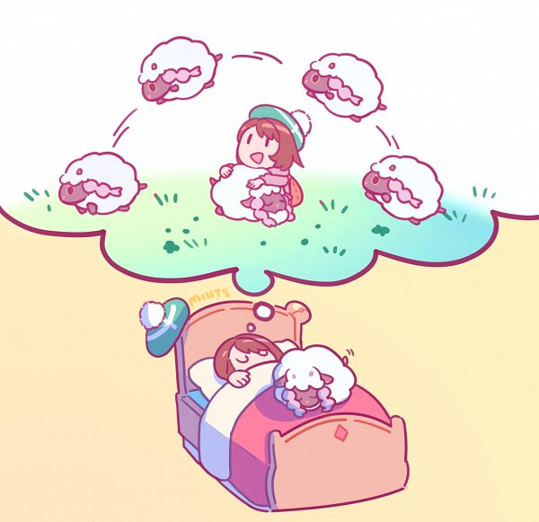 Tags: Anime, Red Rice Water, Pokémon Sword & Shield, Pokémon, Female Protagonist (Pokémon Sword & Shield), Wooloo, Dreaming, Tumblr