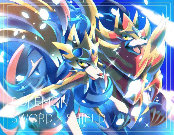 Tags: Anime, Pixiv Id 16982435, Pokémon Sword & Shield, Pokémon, Zacian, Zamazenta