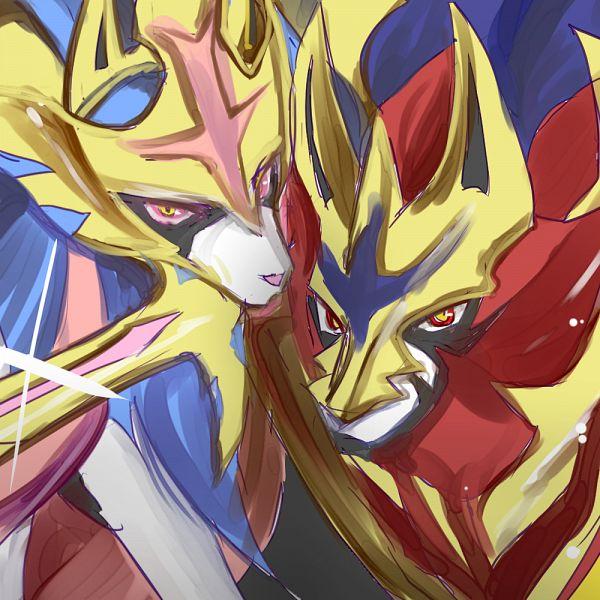 Tags: Anime, Pixiv Id 21836168, Pokémon Sword & Shield, Pokémon, Zacian, Zamazenta