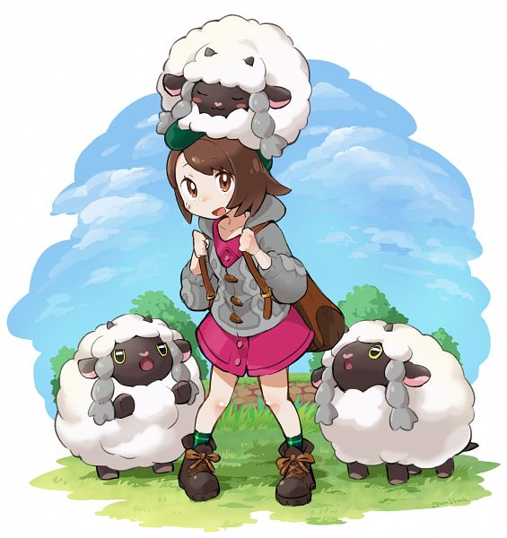 Tags: Anime, Gunjimakoubou, Pokémon Sword & Shield, Pokémon, Wooloo, Female Protagonist (Pokémon Sword & Shield)