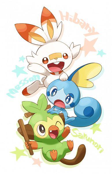 Tags: Anime, Pixiv Id 2531261, Pokémon Sword & Shield, Pokémon, Scorbunny, Sobble, Grookey