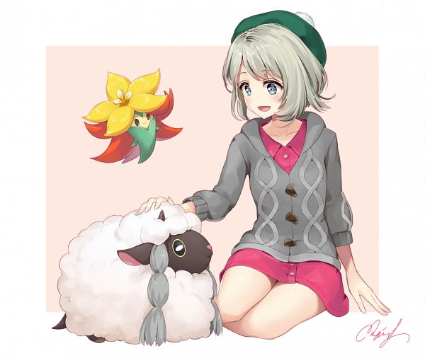 Tags: Anime, Pixiv Id 15982110, Pokémon Sword & Shield, Pokémon, Wooloo, Gossifleur, Female Protagonist (Pokémon Sword & Shield)