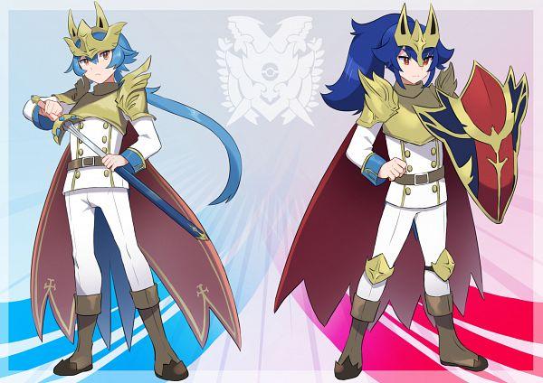 Tags: Anime, Pixiv Id 1735287, Pokémon Sword & Shield, Pokémon, Zamazenta, Zacian