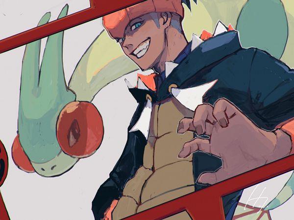 Tags: Anime, Pixiv Id 23785754, Pokémon Sword & Shield, Pokémon, Flygon, Raihan, Rotom, Rotom Phone, Alternate Appearance