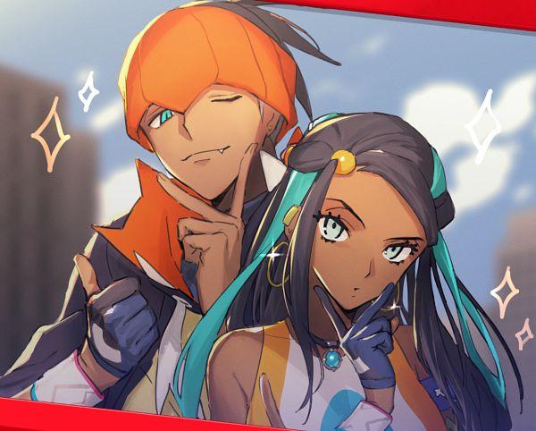 Tags: Anime, Pixiv Id 10067320, Pokémon Sword & Shield, Pokémon, Raihan, Rurina, Thumbs Up