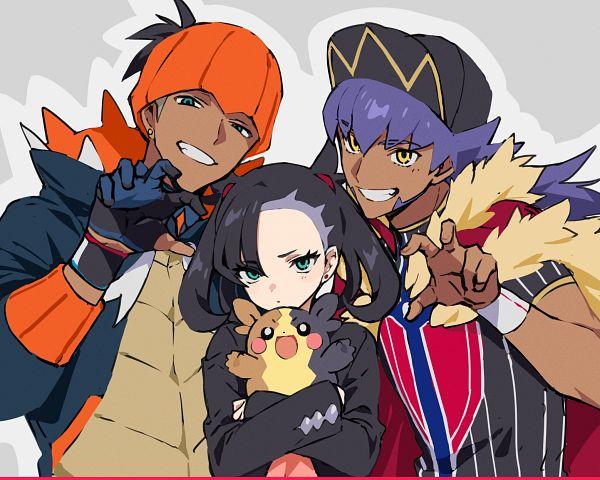 Tags: Anime, Pixiv Id 10067320, Pokémon Sword & Shield, Pokémon, Raihan, Morpeko, Marie (Pokémon), Dande (Pokémon)