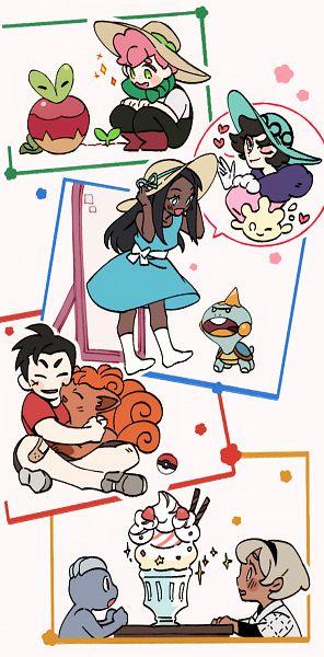 Tags: Anime, Pixiv Id 5675381, Pokémon Sword & Shield, Pokémon, Vulpix, Kabu (Pokémon), Milcery, Applin, Saitou (Pokémon), Chewtle, Rurina, Machop, Opal (Pokémon)