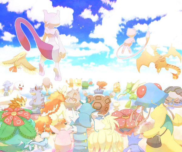 Tags: Anime, Pixiv Id 2584338, Pokémon (Anime), Pokémon The Movie: Mewtwo no Gyakushuu EVOLUTION, Pokémon the Movie: Mewtwo Strikes Back, Pokémon, Vulpix, Blastoise, Sandslash, Meowth, Ninetales, Wigglytuff, Rhyhorn
