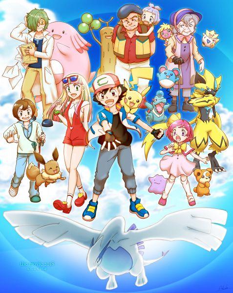 Tags: Anime, Pixiv Id 6232128, Pokémon (Anime), Pokémon The Movie: Minna no Monogatari, Pokémon, Pikachu, Smoochum, Risa (Pokémon), Totodile, Rarugo, Ditto, Eevee, Chansey, Pokémon The Movie: The Power Of Us