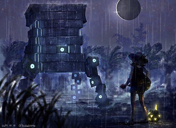 Tags: Anime, Pixiv Id 12909368, Pokémon Ultra Sun & Moon, Pokémon, Female Protagonist (Pokémon Ultra Sun/Moon), Stakataka, Togedemaru, Pixiv, Ultra Beasts, Fanart, Fanart From Pixiv
