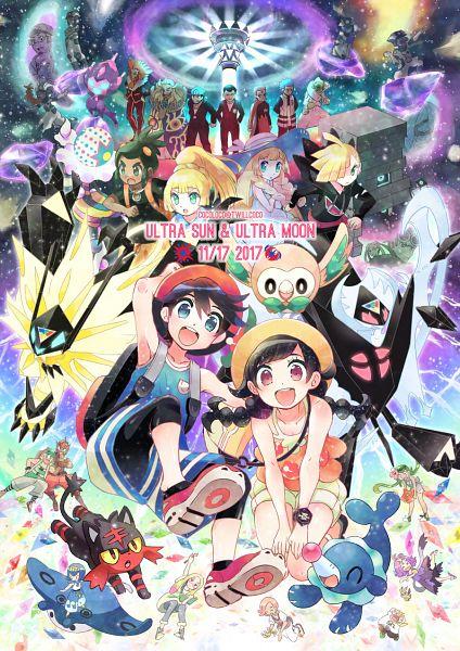 Tags: Anime, Kokoroko, Pokémon Ultra Sun & Moon, Pokémon, Male Protagonist (Pokémon Ultra Sun/Moon), Sakaki (Pokémon), Dusk Mane Necrozma, Litten, Mao (Pokémon), Necrozma, Dulse, Aogiri (Pokémon), Lunala