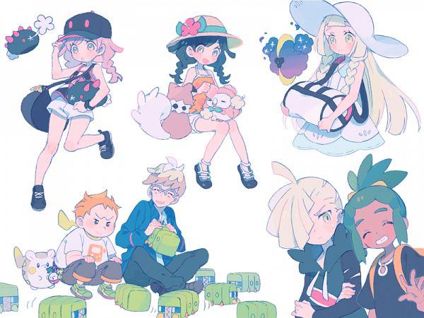Tags: Anime, Pixiv Id 601940, Pokémon Ultra Sun & Moon, Pokémon, Pyukumuku, Hau (Pokémon), Female Protagonist (Pokémon Ultra Sun/Moon), Togedemaru, Rowlet, Mullein (Pokémon), Charjabug, Cosmog, Rockruff