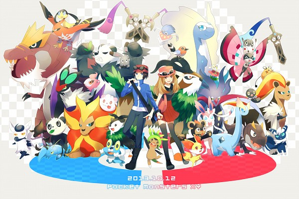 Tags: Anime, Achiki, Pokémon X & Y, Pokémon, Pancham, Flabébé, Skiddo, Calme (Pokémon), Doublade, Skrelp, Spritzee, Tyrunt, Fletchling