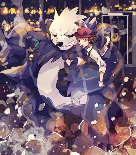 Tags: Anime, Pixiv Id 5487271, Pokémon X & Y, Pokémon, Pangoro, Serena (Pokémon), Fanart From Pixiv, Pixiv, Fanart