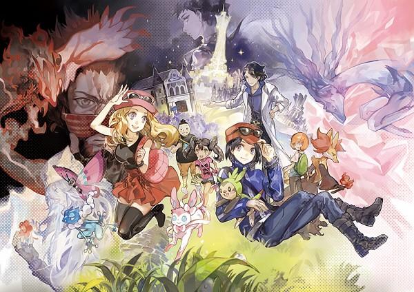Tags: Anime, Ibaraki, Pokémon X & Y, Pokémon, Vivillon, Calme (Pokémon), Toroba, Sylveon, Carnet (Pokémon), Chespin, Sana (Pokémon), Xerneas, Az
