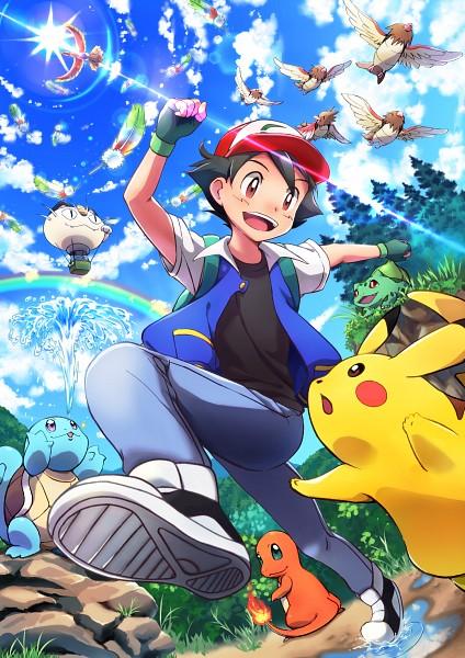 Tags: Anime, Pixiv Id 6228422, Pokémon (Anime), Pokémon the Movie: I Choose You!, Pokémon, Satoshi (Pokémon), Musashi (Pokémon), Meowth, Spearow, Bulbasaur, Pikachu, Charmander, Ho-oh