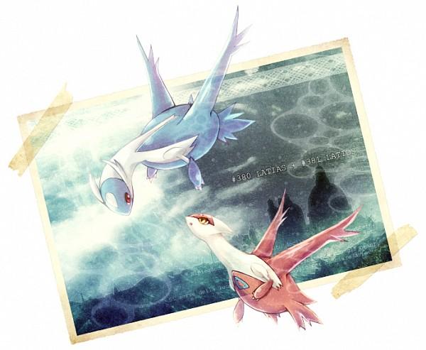 Tags: Anime, Kotorinote, Pokémon (Anime), Pokémon the Movie: Latios & Latias, Pokémon, Latios, Latias, Fanart From Pixiv, Legendary Pokémon, Fanart, Pixiv, Eon Duo