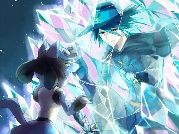 Tags: Anime, Pixiv Id 2386589, Pokémon (Anime), Pokémon the Movie: Lucario and the Mystery of Mew, Pokémon, Arlon (Pokémon), Lucario, Pixiv, Fanart From Pixiv, Fanart