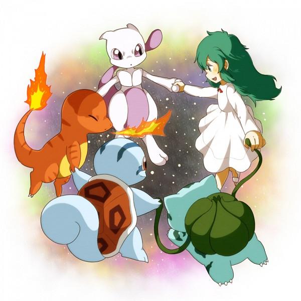 Tags: Anime, Pixiv Id 2547442, Pokémon (Anime), Pokémon the Movie: Mewtwo Strikes Back, Pokémon, Charmander, Ai (Pokémon), Squirtle, Mewtwo, Aitwo, Bulbasaur, Legendary Pokémon