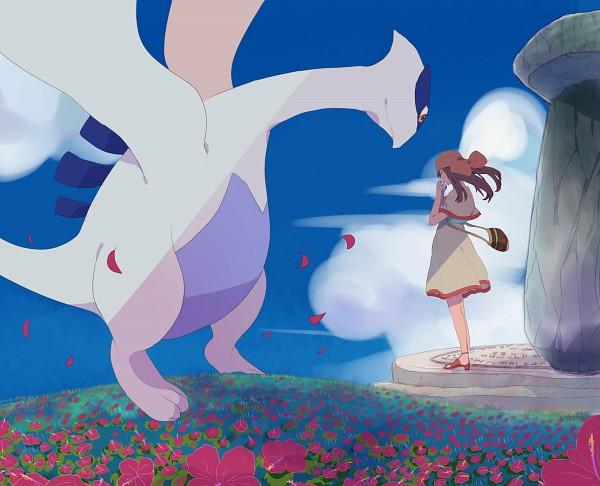 Tags: Anime, Matatabi / またたび, Pokémon (Anime), Pokémon the Movie: The Power of One, Pokémon, Lugia, Fleura (Pokémon), Legendary Pokémon, Fanart, Fanart From Pixiv, Pixiv