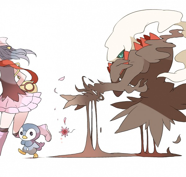 Tags: Anime, Pixiv Id 1200059, Pokémon SPECIAL, Pokémon (Anime), Pokémon the Movie: The Rise of Darkrai, Pokémon, Hikari (Pokémon), Darkrai, Piplup, Melting, Running Away, Legendary Pokémon, Pixiv