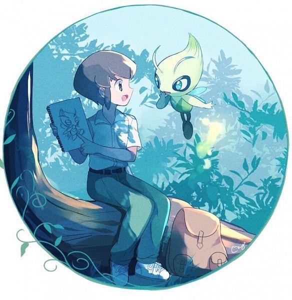 Tags: Anime, May (Pixiv Id 233774), Pokémon (Anime), Pokémon the Movie: Voice of the Forest, Pokémon Red & Green, Pokémon, Celebi, Ookido Yukinari, Legendary Pokémon