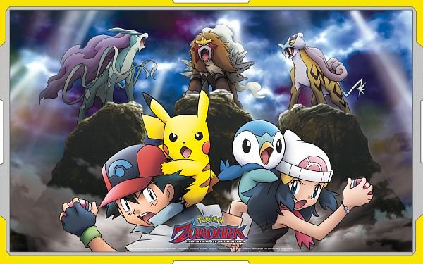 Tags: Anime, Nintendo, GAME FREAK, Pokémon (Anime), Pokémon the Movie: Zoroark: Master of Illusions, Pokémon, Raikou, Piplup, Hikari (Pokémon), Entei, Satoshi (Pokémon), Suicune, Pikachu