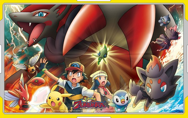 Tags: Anime, GAME FREAK, Nintendo, Pokémon (Anime), Pokémon the Movie: Zoroark: Master of Illusions, Pokémon, Zorua, Scizor, Pikachu, Zoroark, Celebi, Piplup, Ninjask