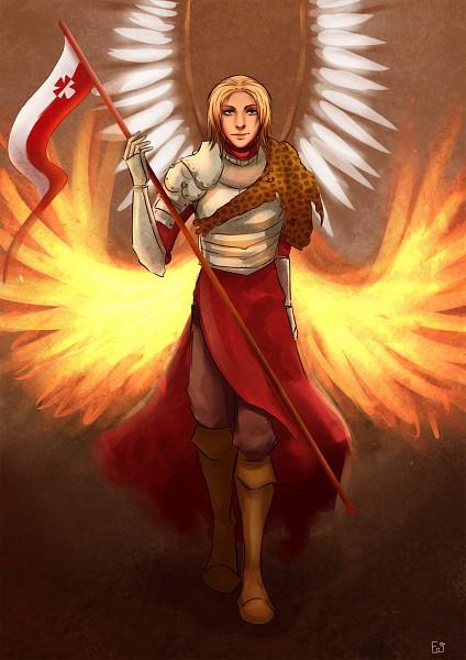 Tags: Anime, Axis Powers: Hetalia, Poland, Phoenix, Hussar, Emjayxd, Fanart From DeviantART, Fanart, deviantART