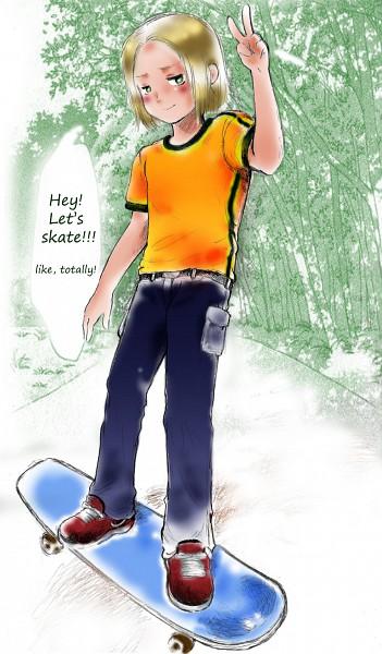 Tags: Anime, Axis Powers: Hetalia, Poland, Skateboard
