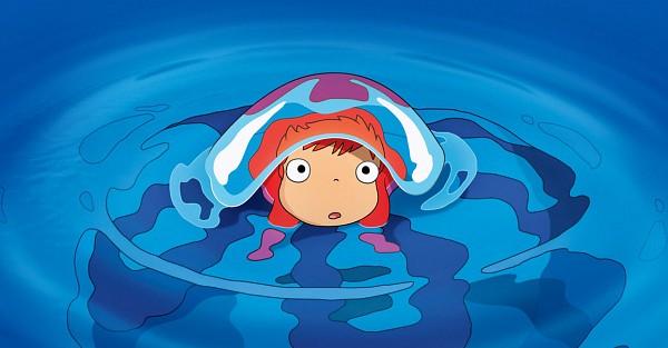 Tags: Anime, Studio Ghibli, Gake no Ue no Ponyo, Ponyo, Jellyfish, Screenshot