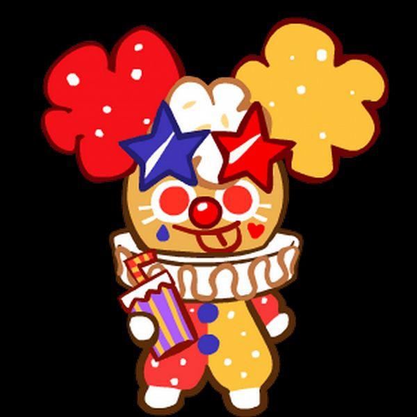 Popcorn Cookie (Funny Clown) - Popcorn Cookie