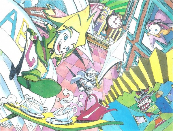 Tags: Anime, Popolocrois, Atsuko Fukushima, Official Art, Scan