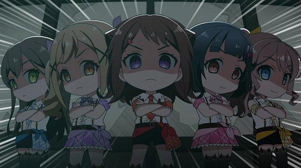 Tags: Anime, BanG Dream! Girls Band Party! PICO, BanG Dream! Girls Band Party!, BanG Dream!, Hanazono Tae, Toyama Kasumi, Ichigaya Arisa, Yamabuki Saaya (BanG Dream!), Ushigome Rimi, Screenshot, Poppin'Party