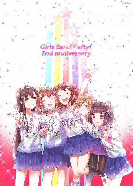Tags: Anime, Pixiv Id 4782672, BanG Dream! Girls Band Party!, BanG Dream!, Ushigome Rimi, Hanazono Tae, Toyama Kasumi, Ichigaya Arisa, Yamabuki Saaya (BanG Dream!), Poppin'Party