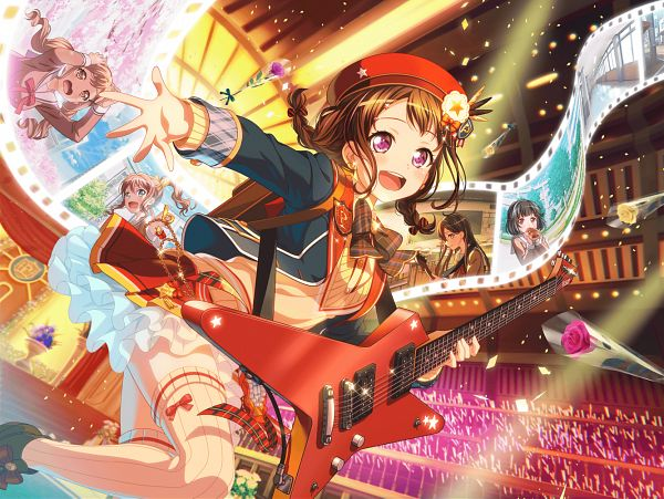 Tags: Anime, Craft Egg, BanG Dream! Girls Band Party!, BanG Dream!, Ushigome Rimi, Hanazono Tae, Toyama Kasumi, Ichigaya Arisa, Yamabuki Saaya (BanG Dream!), Official Card Illustration, Official Art, Poppin'Party