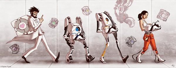 Tags: Anime, Portal (Game), Wheatley, Adventure Core, Doug Rattmann, GLaDOS, Space Core, P-body, Fact Core, Chell, ATLAS (Portal), Companion Cube, Dylanfurst