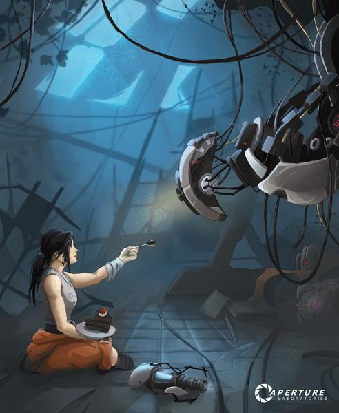 Tags: Anime, Quintuscassius, Portal (Game), Chell, GLaDOS, Portal Cake, deviantART