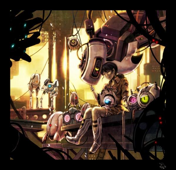 Tags: Anime, Portal (Game), Chell, Fact Core, ATLAS (Portal), Wheatley, Turret, GLaDOS, Adventure Core, P-body, Space Core, Companion Cube
