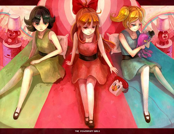 Tags: Anime, Samo, Power Puff Girls, Blossom (PPG), Bubbles (PPG), Octi, Buttercup (PPG), Pixiv, Fanart