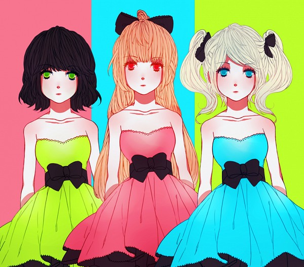 Tags: Anime, Power Puff Girls, Bubbles (PPG), Buttercup (PPG), Blossom (PPG), Artist Request, Tumblr