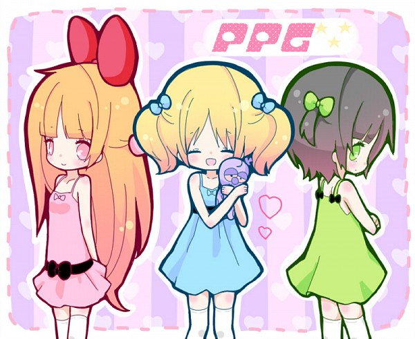 Tags: Anime, Maako, Power Puff Girls, Buttercup (PPG), Blossom (PPG), Bubbles (PPG), Pixiv, Fanart