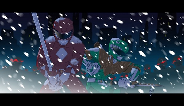 Tags: Anime, Power Rangers, Red Ranger, Green Ranger (Power Rangers), Artist Request