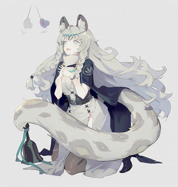Tags: Anime, Crimson K Night, Arknights, Pramanix, Leopard Tail, Gray, Hyoumimi, Fanart From Pixiv, Pixiv, Fanart