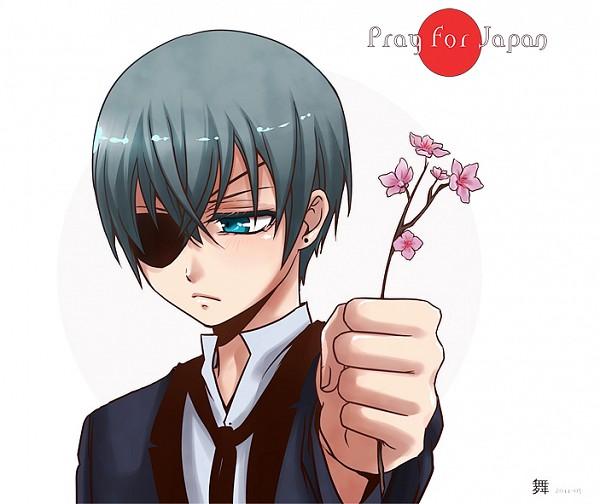 Tags: Anime, KuroMai, Kuroshitsuji, Ciel Phantomhive, Red Sun Motif, Fanart, deviantART, Pixiv, Pray For Japan