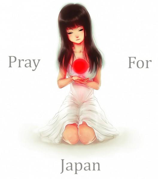 Tags: Anime, Mezamero, Red Sun Motif, Pray For Japan
